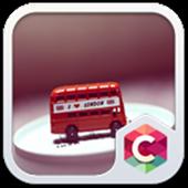 Cartoon London Bus Theme icon