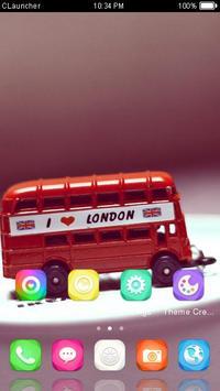 Cartoon London Bus Theme apk screenshot