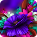 Themes app for Samsung S6 Purple Bloom flower