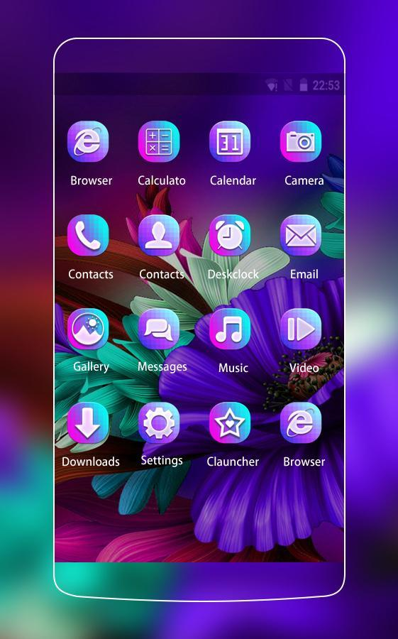 Themes app for  S6 Purple Bloom flower poster