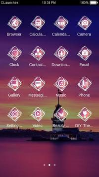 Tower in Evening Theme apk screenshot