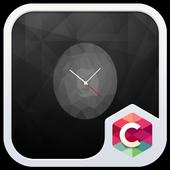 Black Clock C Launcher Theme icon