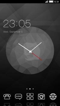 Black Clock C Launcher Theme poster