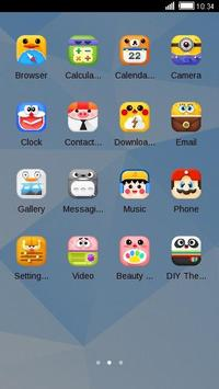Comic theme: Cute cartoon comic story C launcher apk screenshot