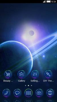 Saturn Space C Launcher Theme apk screenshot