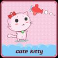Cute Kitty Cartoon Pink Theme