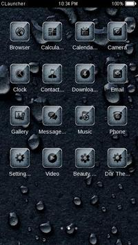 Water Drops C Launcher Theme apk screenshot