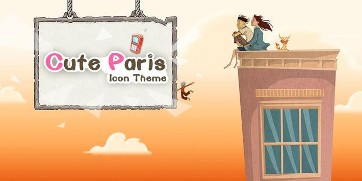 Cute Paris Comic Theme: Cartoon launcher ng Paris screenshot 7