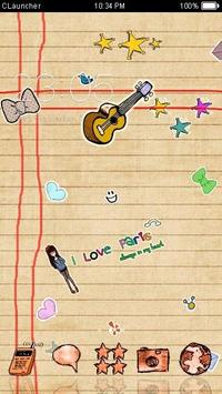 Cute Handwrite Cartoon Theme apk screenshot