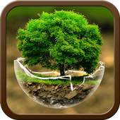Green Nature HD Theme: Comic Android themes FREE icon
