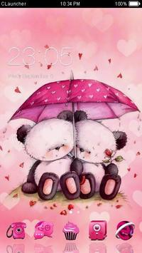 Cute Pink Bear Love Theme poster