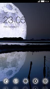 Big Full Moon CLauncher Theme poster