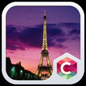 Sunset Paris CLauncher Theme icon