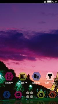 Sunset Paris CLauncher Theme apk screenshot