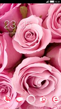 Pink Roses CLauncher Theme poster