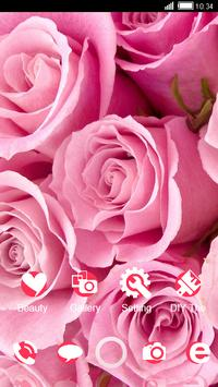 Pink Roses CLauncher Theme apk screenshot