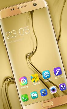 Theme For Samsung Galaxy S8 Gold Wallpaper HD Apk Screenshot