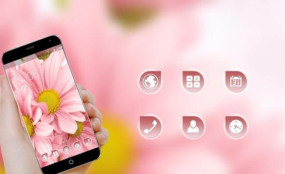 Flowers Launcher Theme: Pink Rose Spring Flower apk screenshot