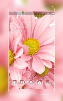 Flowers Launcher Theme: Pink Rose Spring Flower poster