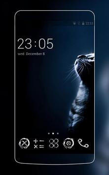 Black Cat Theme C Launcher apk screenshot
