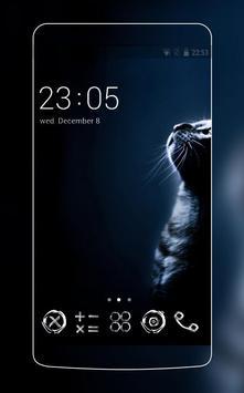 Black Cat Theme C Launcher poster
