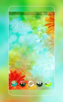 Colorful Flower Theme Android poster