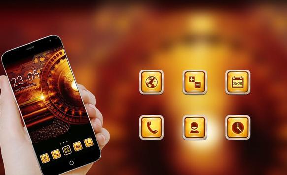Gold Technology Theme apk screenshot