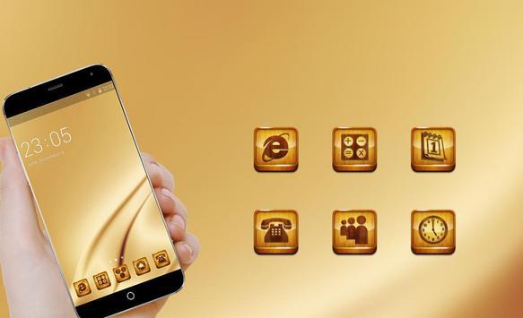 Gold Theme C Launcher apk screenshot