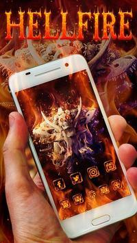Hell Fire Skull Theme poster