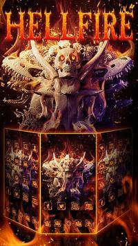 Hell Fire Skull Theme apk screenshot