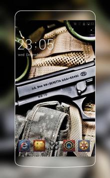 Cool Gun theme for  C Launcher poster