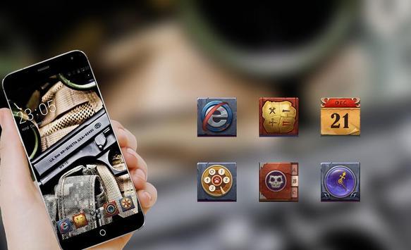 Cool Gun theme for  C Launcher apk screenshot