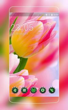 Pink tulip Theme C Launcher poster
