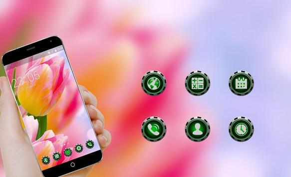 Pink tulip Theme C Launcher apk screenshot