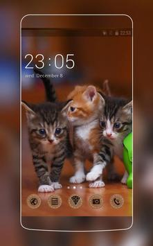 Theme with cats C Launcher poster