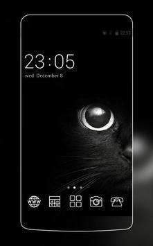 Black Cat eyes Theme CLauncher poster