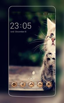 Cute Cat Theme C Launcher poster