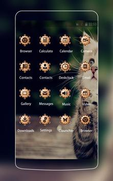 Cute Cat Theme C Launcher screenshot 1