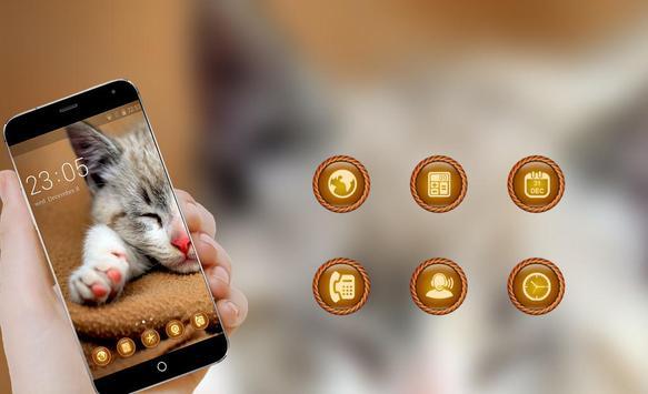 kitty cat Theme C launcher apk screenshot