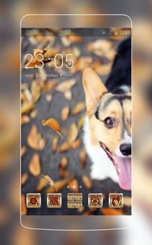 Cute Puppy Theme C Launcher poster