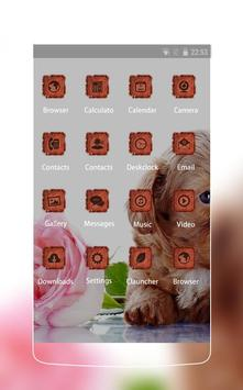 Lovely theme: Puppy apk screenshot