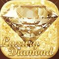 Luxury Diamond Launcher: Gold Glitter Deluxe Theme