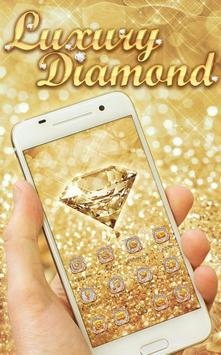 Luxury Diamond Launcher: Gold Glitter Deluxe Theme screenshot 1