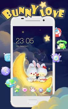 Kawaii Rabbit Love theme poster