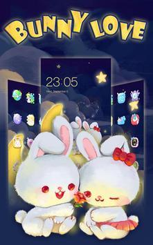 Kawaii Rabbit Love theme screenshot 1