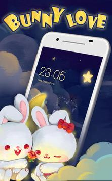 Kawaii Rabbit Love theme apk screenshot