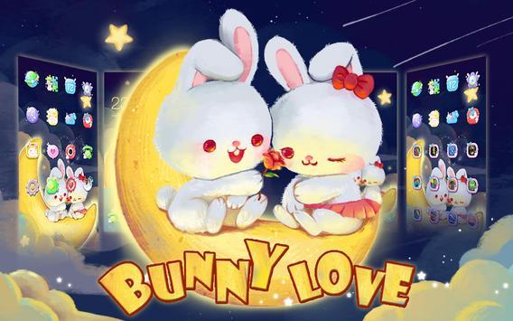 Kawaii Rabbit Love theme screenshot 3