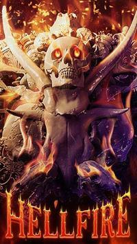 Skull Theme: Skeleton Hellfire wallpaper HD poster