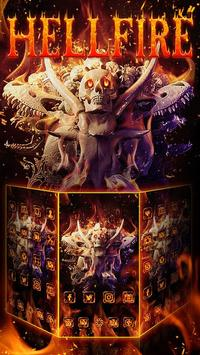 Skull Theme: Skeleton Hellfire wallpaper HD apk screenshot