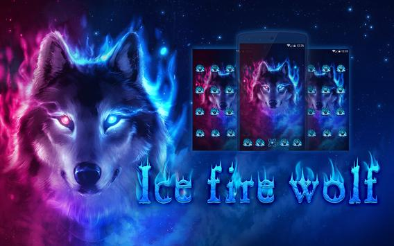 Fire Wolf Theme Ice Wallpaper HD Apk Screenshot